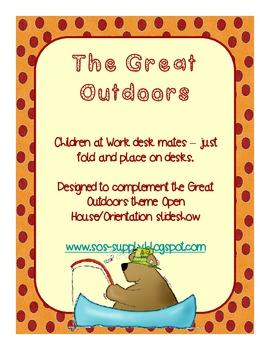 "Great Outdoors ""Children at Work"" Desk Mates"