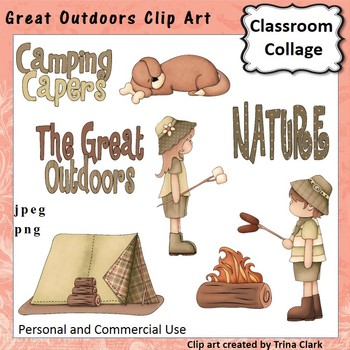Great Outdoors Clip Art  Color  personal & commercial use