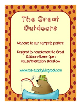 """Great Outdoors """"Welcome To Our Campsite"""" Posters"""
