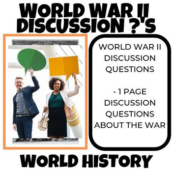 World War II Discussion Questions World History