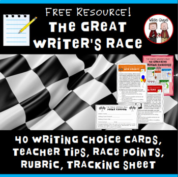 FREE Great Writer's Race Q & A, Writing Rubric, Activities