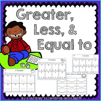 Greater, Less, and Equal {Kindergarten or First Grade}