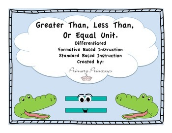 Greater Less than or Equal Place Value Differentiated/ For