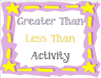 Greater Than Less Than Activity