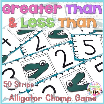 Greater Than/Less Than Alligator Chomp Card Game