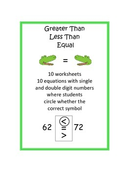 Greater Than, Less Than, Equal