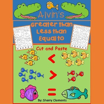 Fish - Greater Than Less Than Equal To Printables (Cut and Paste)
