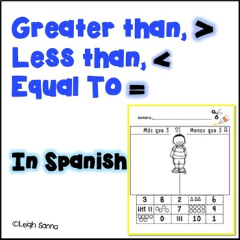 Greater Than, Less Than, Equal To Numbers Packet in Spanish