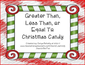 Greater Than, Less Than, or Equal To Christmas Candy