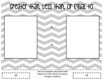 Greater Than, Less Than, or Equal To Mat