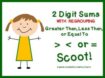 Greater Than, Less Than, or Equal To SCOOT Game!  2 Digit