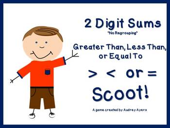 Greater Than, Less Than, or Equal To SCOOT Game! 2 digit S