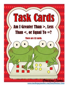 Greater Than, Less Than, or Equal To - Task Cards