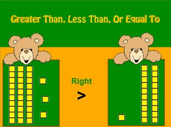 Greater Than Less Than or Equal To With Base 10 Blocks fli