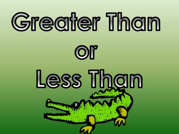 Greater Than or Less Than with Allie the Alligator Parts 1