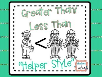 """Greater Than/Less Than  """"Helper Style"""""""