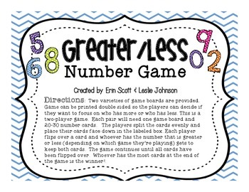 Greater/Less Number Game