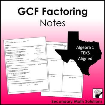 GCF Factoring Notes