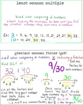 Greatest Common Factor GCF and Least Common Multiple LCM a