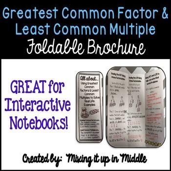 Greatest Common Factor & Least Common Multiple Brochure fo