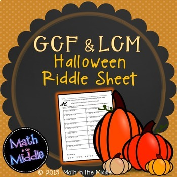 Greatest Common Factor & Least Common Multiple Halloween R