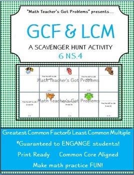 GCF & LCM Scavenger Hunt-6NS.4