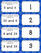 Greatest Common Factor Task Cards Matching Game