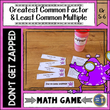 Greatest Common Factor and Least Common Multiple ZAP Math Game