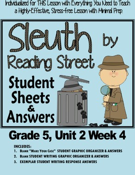 Sleuth Reading Street, Gr. 5 Unit 2 Wk 4, The Summer's Tra