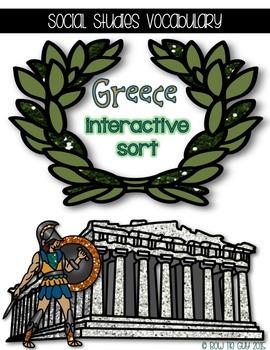 Greece {Interactive Vocabulary Sort}