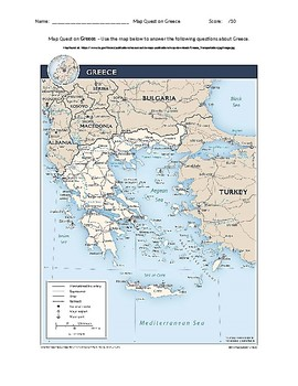 Greece Map Quest Geography Skills