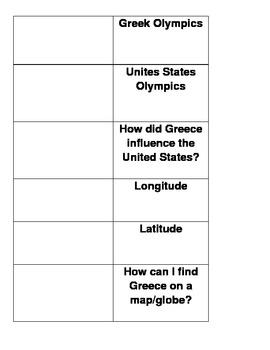 Greece lap book