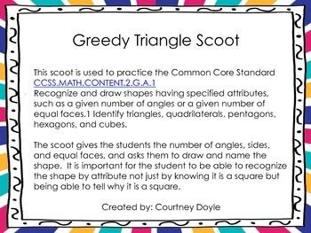 Greedy Triangle Scoot C.C. 2.G.1