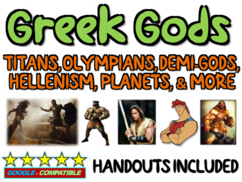 Greek Gods (Titans, Olympians, Hellenism, influence on Rom