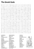 Greek Gods and Heroes Word Search