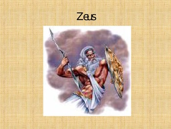 Greek Gods of Mt. Olympus PowerPoint **To Accompany Worksh