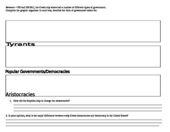 Greek Government Graphic Organizer