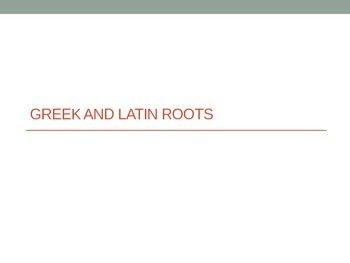Greek Latin Root Words (Brev, Cap, Ord, Phil, San)