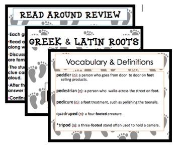 Root words: ped/pedi