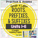 Greek and Latin Roots: Worksheets and Tests Units 1-6 {Hug