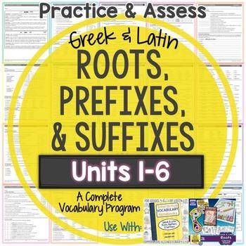 Greek and Latin Roots: Worksheets and Tests Units 1-6 {Hug
