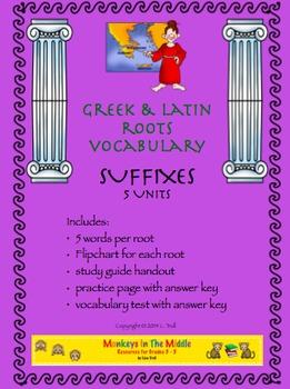 Greek & Latin Roots Suffixes Unit
