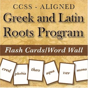 Greek & Latin Roots/Affixes: a YEAR of Videos, Flash Cards