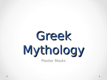 Greek Mask Interpretation Powerpoint