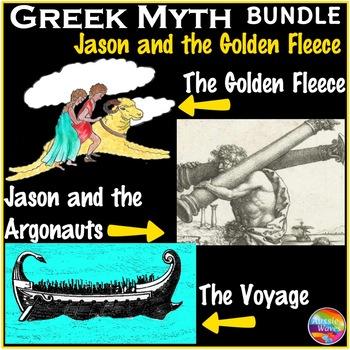 Greek Myth BUNDLE Text & Task Cards Literacy Center Activi
