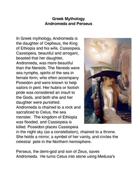 Greek Mythology: Andromeda and Cassiopeia