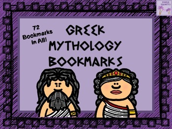 Greek Mythology Boomarks Set (72 Bookmarks!)