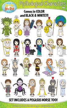 Greek Mythology Characters Clip Art Bundle Pack — Includes