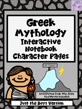 Greek Mythology Characters Interactive Notebook (Just The