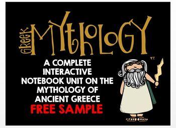 Greek Mythology: Complete Interactive Notebook Unit - FREE SAMPLE